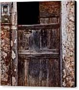 Traditional Door Canvas Print by Emmanouil Klimis
