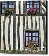 Typical House  Half-timbered In Normandy. France. Europe Canvas Print by Bernard Jaubert