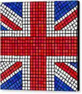 Union Jack Mosaic Canvas Print by Jane Rix