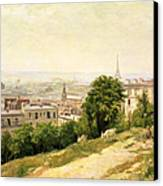 View Of Paris Canvas Print by Stanislas Victor Edouard Lepine