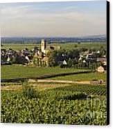 Vineyard And Village Of Pommard. Cote D'or. Route Des Grands Crus. Burgundy. France. Europe Canvas Print by Bernard Jaubert
