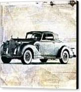 Vintage Car Canvas Print by David Ridley