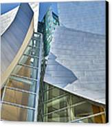 Walt Disney Concert Hall Vertical Los Angeles Ca Canvas Print by David Zanzinger