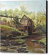 Watermill At Daybreak  Canvas Print by Mary Ellen Anderson