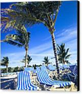 Windy Day At The Beach Canvas Print by Susan Stone