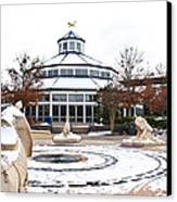 Winter In Coolidge Park Canvas Print by Tom and Pat Cory