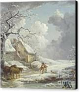 Winter Landscape Canvas Print by Pg Reproductions