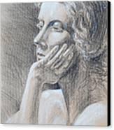 Woman Head Study Canvas Print by Irina Sztukowski