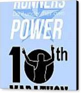 10th Marathon Race Poster  Canvas Print by Aloysius Patrimonio