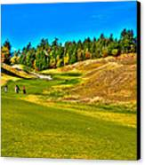 #12 At Chambers Bay Golf Course - Location Of The 2015 U.s. Open Championship Canvas Print by David Patterson