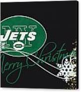 New York Jets Canvas Print by Joe Hamilton
