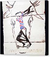 Dinka Dance - South Sudan Canvas Print by Gloria Ssali