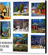 14 Works From The Golf Shed Series Canvas Print by Charlie Spear