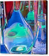 Laboratory Glassware Canvas Print by Charlotte Raymond