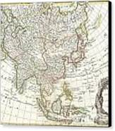 1770 Janvier Map Of Asia Canvas Print by Paul Fearn