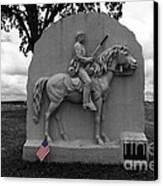 17th Pennsylvania Cavalry Monument Gettysburg Canvas Print by James Brunker