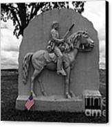 17th Pennsylvania Cavalry Monument Gettysburg Canvas Print by James Brunker