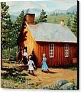 1896 School House Canvas Print by Mary Giacomini