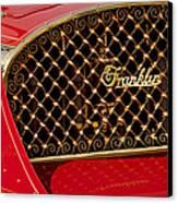 1904 Franklin Open Four Seater Grille Emblem Canvas Print by Jill Reger