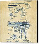 1911 Automatic Firearm Patent Artwork - Vintage Canvas Print by Nikki Marie Smith