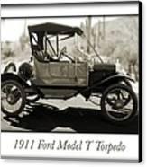 1911 Ford Model T Torpedo Canvas Print by Jill Reger