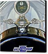 1915 Chevrolet Touring Hood Ornament Canvas Print by Jill Reger