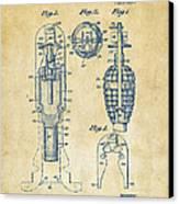 1921 Explosive Missle Patent Vintage Canvas Print by Nikki Marie Smith