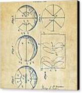 1929 Basketball Patent Artwork - Vintage Canvas Print by Nikki Marie Smith