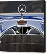 1929 Mercedes Benz S Erdmann And Rossi Cabiolet Hood Ornament Canvas Print by Jill Reger