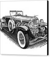 1930 Duesenberg Model J Canvas Print by Jack Pumphrey