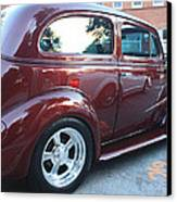 1937 Chevy Two Door Sedan Rear And Side View Canvas Print by John Telfer