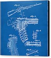 1937 Police Remington Model 8 Magazine Patent Artwork - Blueprin Canvas Print by Nikki Marie Smith