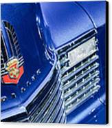 1941 Cadillac Emblem Canvas Print by Jill Reger