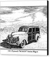 1941 Plymouth Woody Canvas Print by Jack Pumphrey