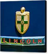 1942 Lincoln Continental Cabriolet Emblem Canvas Print by Jill Reger