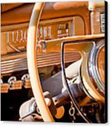 1942 Packard Darrin Convertible Victoria Steering Wheel Canvas Print by Jill Reger