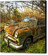 1949 Ford Canvas Print by Debra and Dave Vanderlaan