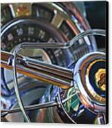 1950 Chrysler New Yorker Coupe Steering Wheel Emblem Canvas Print by Jill Reger
