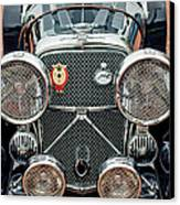 1950 Jaguar Xk120 Roadster Grille Canvas Print by Jill Reger