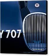 1951 Jaguar Proteus C-type Grille Emblem 3 Canvas Print by Jill Reger
