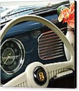 1952 Volkswagen Vw Bug Steering Wheel Canvas Print by Jill Reger