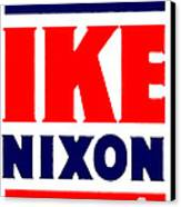 1952 Vote Ike And Nixon Canvas Print by Historic Image