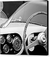 1953 Ferrari 340 Mm Lemans Spyder Steering Wheel Emblem Canvas Print by Jill Reger