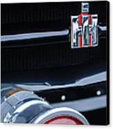 1954 International Harvester R140 Woody Grille Emblem Canvas Print by Jill Reger