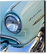 1954 Lincoln Capri Headlight Canvas Print by Jill Reger