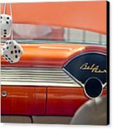 1955 Chevrolet Belair Dashboard Canvas Print by Jill Reger