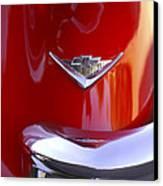 1955 Chevrolet Belair Nomad Emblem Canvas Print by Jill Reger