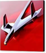 1955 Chevrolet Belair Nomad Hood Ornament Canvas Print by Jill Reger