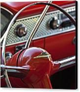 1955 Chevrolet Belair Nomad Steering Wheel Canvas Print by Jill Reger