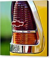 1955 Chevrolet Taillight Emblem Canvas Print by Jill Reger